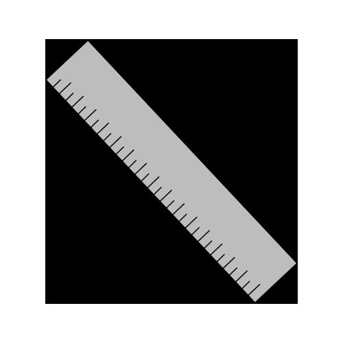 Maße grau Lineal