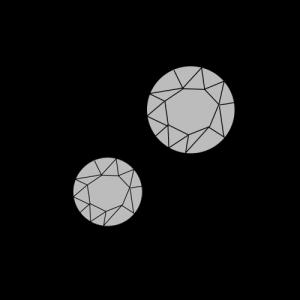 MELASÓL Strassniete Verzierungen in unterschiedlichen Größen