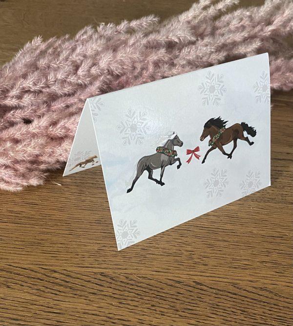 Equisigned Geschenkkarte Snowflake Gaedingur Tölter Passer Melasól